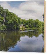Nature Center On Salt Creek Wood Print by Thomas Woolworth