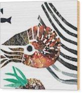 Nautilus Wood Print by Earl ContehMorgan