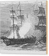 Naval Battle, 1779 Wood Print by Granger