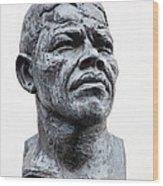 Nelson Mandela Statue Wood Print by Jane Rix