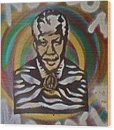 Nelson Mandela Wood Print by Tony B Conscious