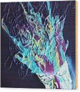 Neon Lights Wood Print by Louise Blaize