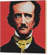 Nevermore - Edgar Allan Poe - Electric Wood Print by Wingsdomain Art and Photography