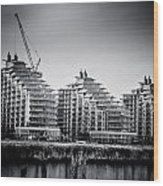 New Apartments In Battersea Wood Print by Lenny Carter