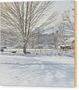 New England Winter Wood Print by Bill Wakeley