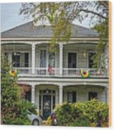 New Orleans Frat House Wood Print by Steve Harrington