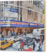 New York 4 Wood Print by Yury Malkov