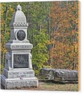 New York At Gettysburg - 149th Ny Infantry Autumn Mid-afternoon Culp's Hill Wood Print by Michael Mazaika
