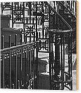New York City Wrought Iron Wood Print by Rona Black