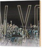 New York Digital-art No.2 Wood Print by Melanie Viola