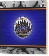 New York Mets Wood Print by Joe Hamilton