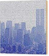 New York Skyline Wood Print by Jon Neidert