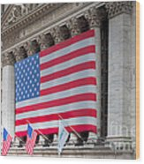 New York Stock Exchange IIi Wood Print by Clarence Holmes
