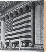 New York Stock Exchange Iv Wood Print by Clarence Holmes