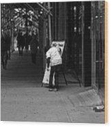 New York Street Photography 26 Wood Print by Frank Romeo