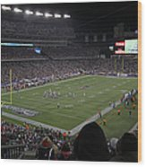 Nfl Patriots And Tom Brady Showtime Wood Print by Juergen Roth