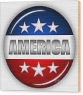 Nice America Shield Wood Print by Pamela Johnson