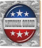 Nice National Guard Shield 2 Wood Print by Pamela Johnson