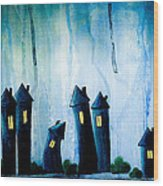Night Owls Wood Print by Nirdesha Munasinghe