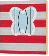 No098 My Papillon Minimal Movie Poster Wood Print by Chungkong Art