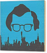 No146 My Manhattan Minimal Movie Poster Wood Print by Chungkong Art