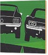 No214 My Bullitt Minimal Movie Poster Wood Print by Chungkong Art