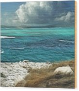 Nonsuch Bay Antigua Wood Print by John Edwards