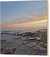 North Point Sunset Wood Print by CJ Schmit