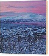 Norwegian Arctic Twilight Wood Print by David Broome