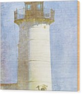 Nubble Lighthouse Wood Print by Carol Leigh
