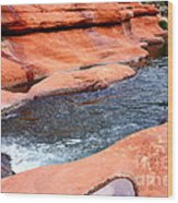 Oak Creek At Slide Rock Wood Print by Carol Groenen