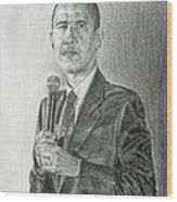 Obama 3 Wood Print by Michael Morgan