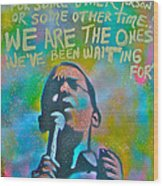 Obama In Living Color Wood Print by Tony B Conscious