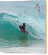 Obama's Boyhood Bodysurfing Beach Wood Print by Kevin Smith