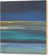 Ocean Blue 2 Wood Print by Linda Woods