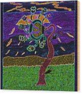 Ocean Side Flower At Sun Set    V3 Wood Print by Kenneth James