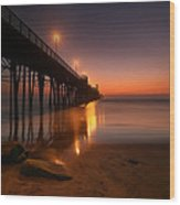 Oceanside Sunset 15 Wood Print by Larry Marshall