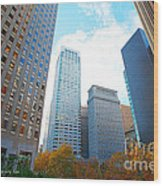 Office Space For Rent In Downtown San Francisco Wood Print by Artist and Photographer Laura Wrede