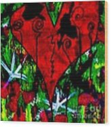 Oh My Pink Heart Wood Print by Donna Daugherty
