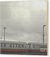 Ohare Airport Peoplemover Wood Print by Deborah Smolinske