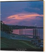 Ohio River Sunset Wood Print by David Lester