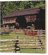 Old Appalachian Farm Cantilevered Barn Wood Print by Paul W Faust -  Impressions of Light