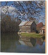 Old Creek Mill Wood Print by Regina  Williams