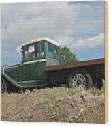 Old Dodge Truck  Wood Print by Steven Parker