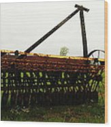 Old Farm Equipment Wood Print by Jeff Swan