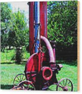 Old Farm Machinery Wood Print by Tina M Wenger