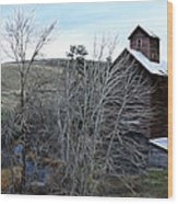Old Grain Barn Wood Print by Steve McKinzie