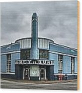 Old Greyhound Bus Terminal  Wood Print by Julie Dant