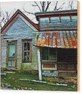 Old Leavenworth Indiana Wood Print by Julie Dant