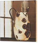 Old Metal Pitcher Wood Print by Art Block Collections